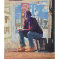 """Of the Streets""  by Clayton Buchanan - Pastel"